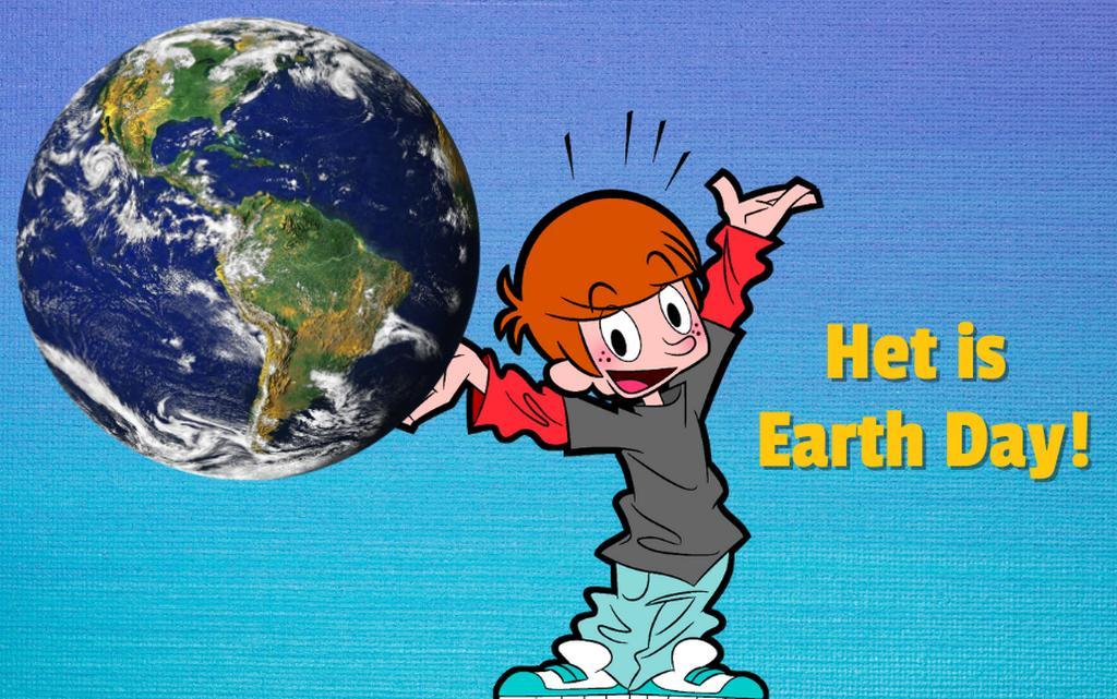 Earth day Joost met aarde
