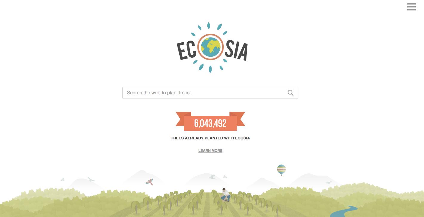 Vervang Google door Ecosia voor een betere planeet